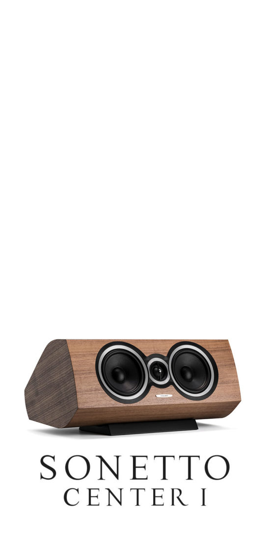Luxury Center-Channel Speaker Sonetto Center, Sonus faber