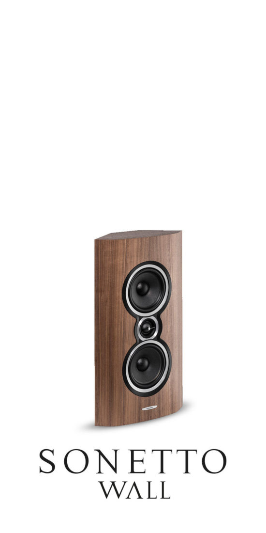 On-Wall Loudspeaker Small Size Sonetto Wall, Sonus faber