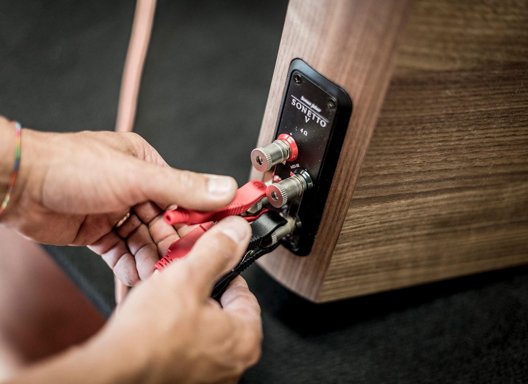 Mono-wiring e bi-wiring diffusori acustici Sonus faber