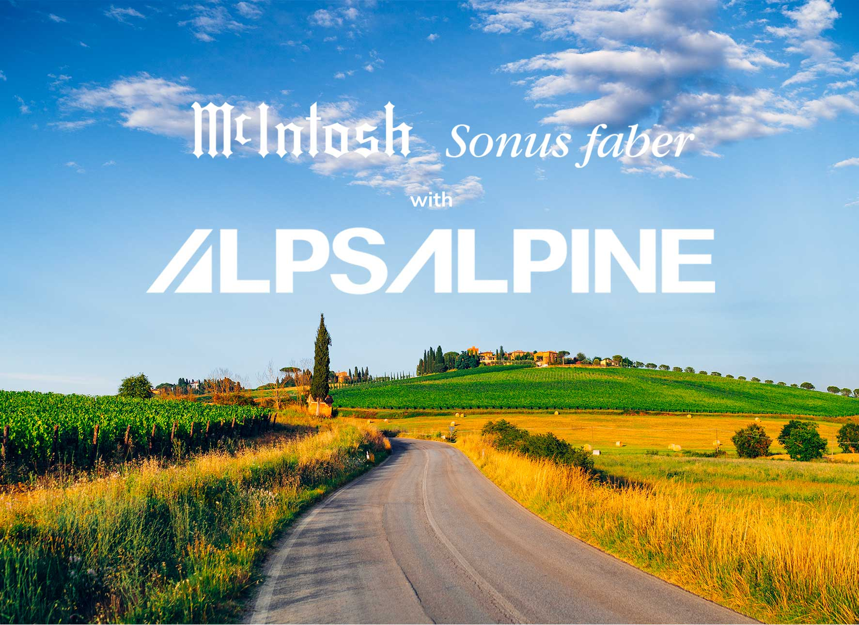 McIntosh & Sonus faber with Alps Alpine